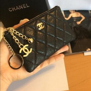 Authentic Chanel VIP Gift Card Holder Coin Wallet